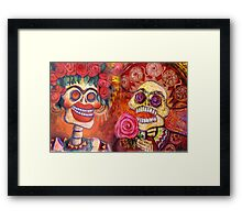 Day of the Dead Calavera Romance Framed Print
