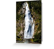 Helicopter Waterfall Greeting Card