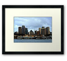 A View Of Sydney Framed Print