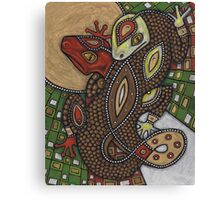 Conjoined (the Geckos) Canvas Print