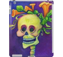 Day of the Dead Skeleton with Pumpkin Blossoms iPad Case/Skin