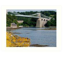 Bridge over the strait Art Print