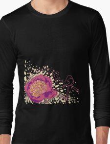 peony flowers Long Sleeve T-Shirt