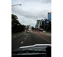 Driving in The City Photographic Print