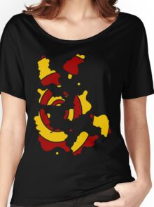 Broken spiral red and yellow Women's Relaxed Fit T-Shirt