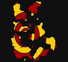 Broken spiral red and yellow Unisex T-Shirt