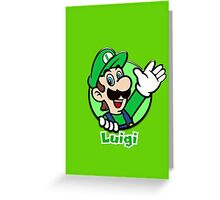 Luigi Phone Case Greeting Card