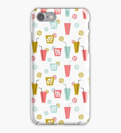 Happy Hour - Drinks cocktails art design illustration modern bright happy bar tiki hawaii island  iPhone Case/Skin