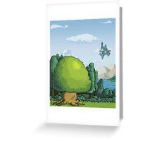 Pixelandscape Greeting Card