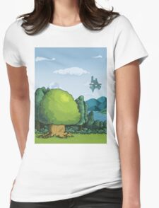 Pixelandscape Womens Fitted T-Shirt