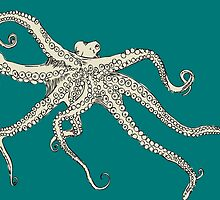 Vector illustration of hand drawn with octopus by OlgaBerlet