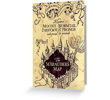 Map Harry potter castle, The Marauders Map Greeting Card