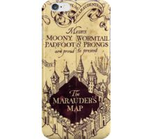 Map Harry potter castle, The Marauders Map iPhone Case/Skin