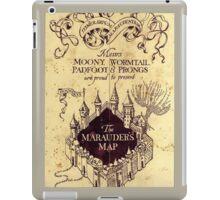 Map Harry potter castle, The Marauders Map iPad Case/Skin