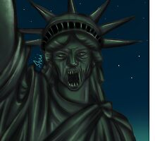 Statue of Liberty-Weeping Angel   by midnight-tardis
