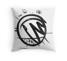 excited heart Throw Pillow