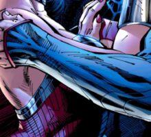 superman and wonderwoman kissing aah Sticker