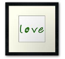 Love marijuana Framed Print