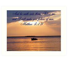 Matthew 4:19 Art Print