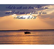 Matthew 4:19 Photographic Print