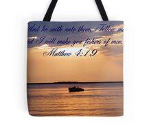 Matthew 4:19 Tote Bag
