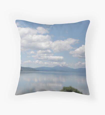 Klamath Lake Cloudscape Throw Pillow
