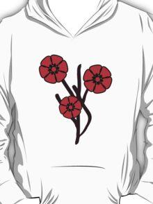 Three red flowers T-Shirt