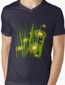 Yellow flowers Mens V-Neck T-Shirt