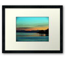 A Teal Sunrise Framed Print