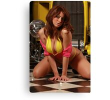 Jessica and the 1932 Yellow Ford Part 3 Canvas Print