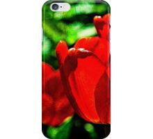 Red tulip flowers iPhone Case/Skin