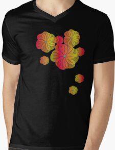 Fire flowers Mens V-Neck T-Shirt