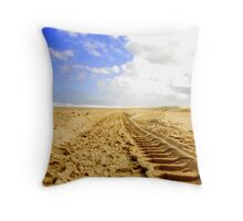 tyre track Throw Pillow