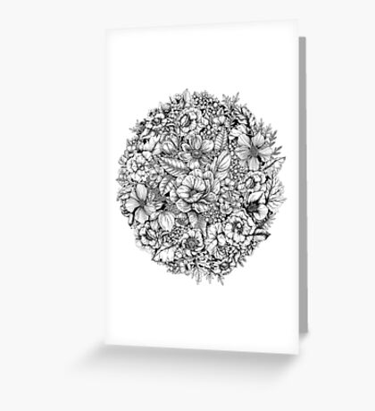 Floral Flower circle  Greeting Card