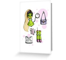 Rollerderby Barbie Greeting Card