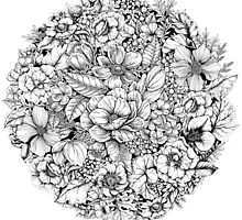 Floral Flower circle  by Linn Warme