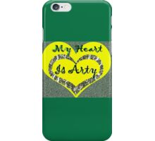 My Heart is Arty iPhone Case/Skin