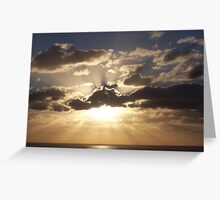 Sunset over the Carribean Greeting Card
