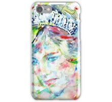 DIANA - Princess of WALES - watercolor portrait iPhone Case/Skin