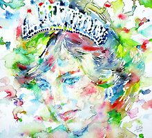 DIANA - Princess of WALES - watercolor portrait by lautir