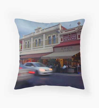 Rundle Street East at dusk Throw Pillow