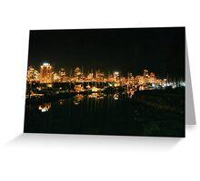 Seawall After Dark Greeting Card