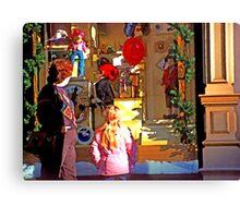 Christmas Window Display - 508 views Canvas Print