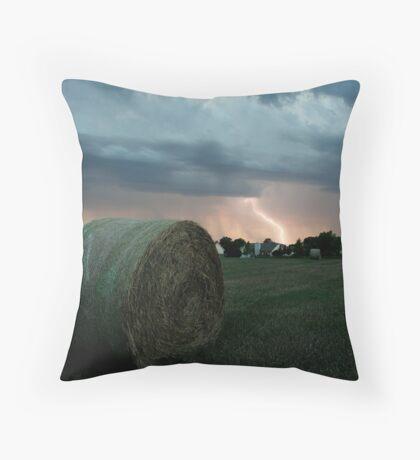 Summer Storm in Kansas Throw Pillow