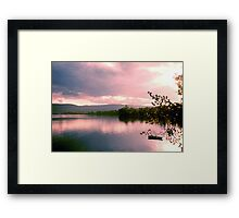 Lake Clear Morning Framed Print