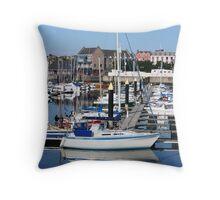 safe harbour Throw Pillow