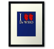 I Heart Heart Dr Who Framed Print