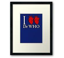 I Heart Heart Dr Who Framed Print