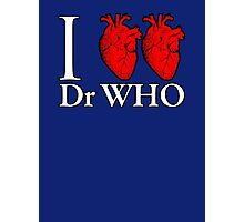 I Heart Heart Dr Who Photographic Print