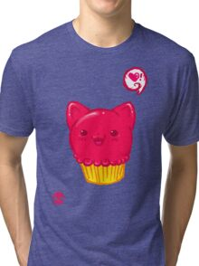 Cupcake Kitty Tri-blend T-Shirt